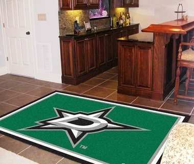 Dallas Stars 5 Foot x 8 Foot Rug