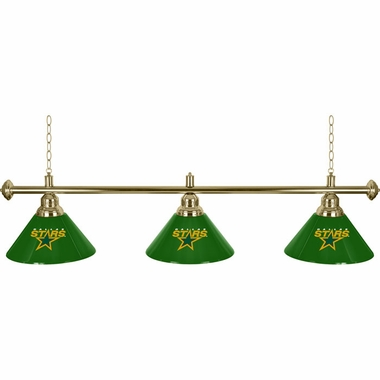 Dallas Stars 60 Inch 3 Shade Billiard Lamp