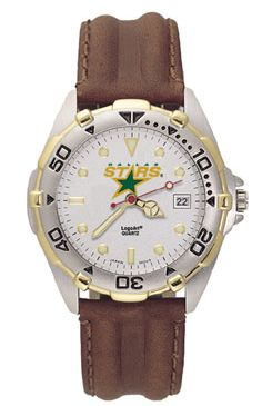Dallas Stars All Star Mens (Leather Band) Watch