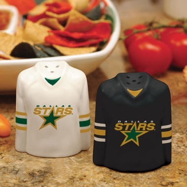 Dallas Stars Ceramic Jersey Salt and Pepper Shakers