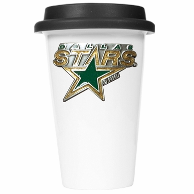 Dallas Stars Ceramic Travel Cup (Black Lid)