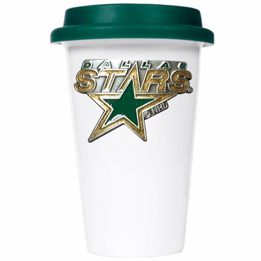 Dallas Stars Ceramic Travel Cup (Team Color Lid)