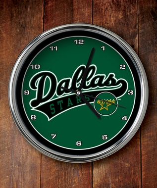 Dallas Stars Chrome Clock