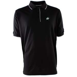 Dallas Stars Mens Elite Polo Shirt (Team Color: Black) - Large