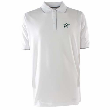Dallas Stars Mens Elite Polo Shirt (Color: White)