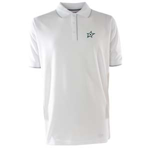 Dallas Stars Mens Elite Polo Shirt (Color: White) - Small