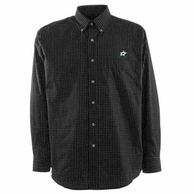 Dallas Stars Mens Esteem Button Down Dress Shirt (Team Color: Black)