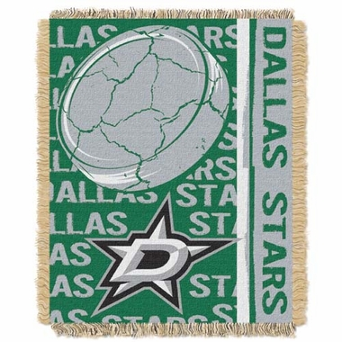 Dallas Stars Jacquard Woven Throw Blanket