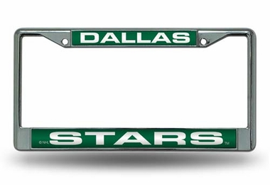 Dallas Stars Laser Etched Chrome License Plate Frame