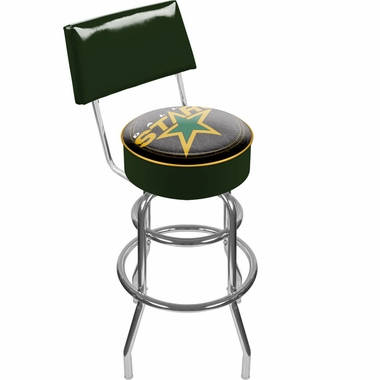 Dallas Stars Padded Bar Stool with Back