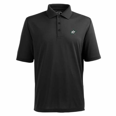 Dallas Stars Mens Pique Xtra Lite Polo Shirt (Team Color: Black)