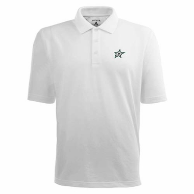 Dallas Stars Mens Pique Xtra Lite Polo Shirt (Color: White)