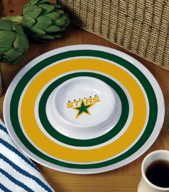 Dallas Stars Plastic Chip and Dip Plate