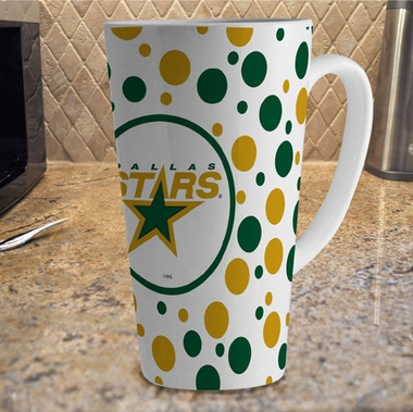 Dallas Stars Polkadot 16 oz. Ceramic Latte Mug