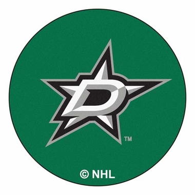 Dallas Stars 27 Inch Puck Shaped Rug
