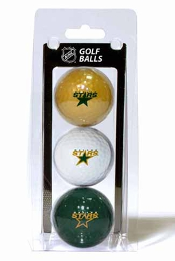Dallas Stars Set of 3 Multicolor Golf Balls