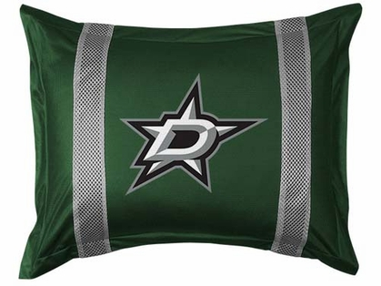 Dallas Stars SIDELINES Jersey Material Pillow Sham