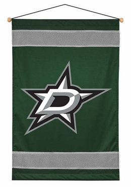 Dallas Stars SIDELINES Jersey Material Wallhanging