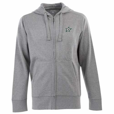 Dallas Stars Mens Signature Full Zip Hooded Sweatshirt (Color: Gray)