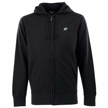 Dallas Stars Mens Signature Full Zip Hooded Sweatshirt (Team Color: Black)