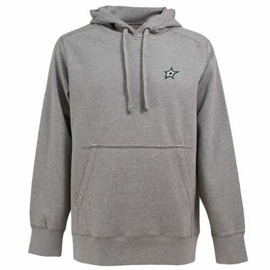 Dallas Stars Mens Signature Hooded Sweatshirt (Color: Gray)