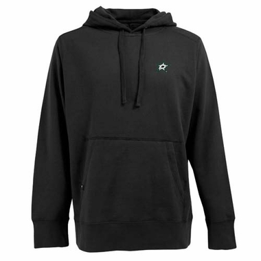 Dallas Stars Mens Signature Hooded Sweatshirt (Color: Black)