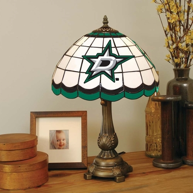 Dallas Stars Stained Glass Table Lamp