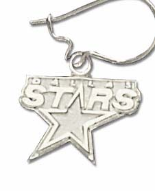 Dallas Stars Sterling Silver Post or Dangle Earrings
