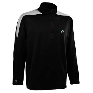 Dallas Stars Mens Succeed 1/4 Zip Performance Pullover (Team Color: Black) - Large