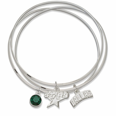 Dallas Stars Triple Bangle Bracelet