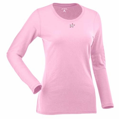 Dallas Stars Womens Relax Long Sleeve Tee (Color: Pink)