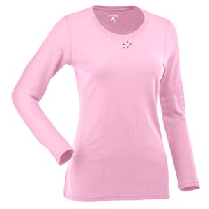 Dallas Stars Womens Relax Long Sleeve Tee (Color: Pink) - Medium