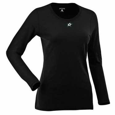 Dallas Stars Womens Relax Long Sleeve Tee (Team Color: Black)