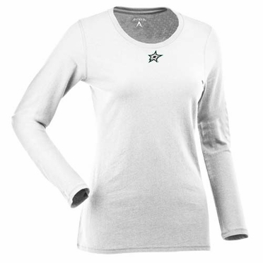 Dallas Stars Womens Relax Long Sleeve Tee (Color: White)