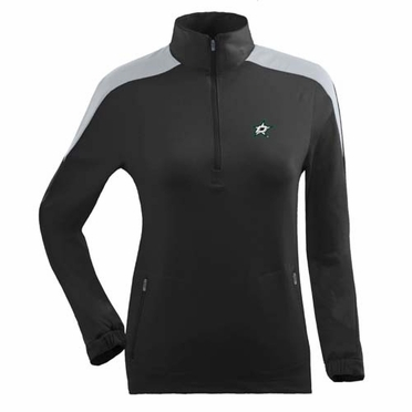 Dallas Stars Womens Succeed 1/4 Zip Performance Pullover (Team Color: Black)