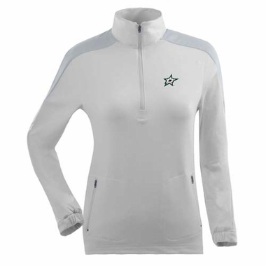 Dallas Stars Womens Succeed 1/4 Zip Performance Pullover (Color: White)