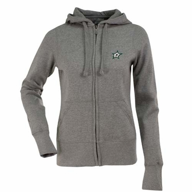 Dallas Stars Womens Zip Front Hoody Sweatshirt (Color: Gray)