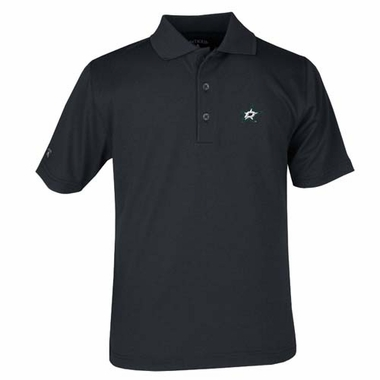 Dallas Stars YOUTH Unisex Pique Polo Shirt (Color: Black)