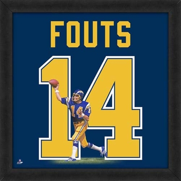 "Dan Fouts, Chargers UNIFRAME 20"" x 20"""