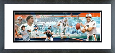 Dan Marino - Framed / Double Matted Photoramic