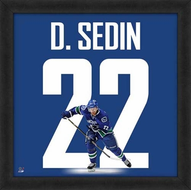 "Daniel Sedin, Canucks UNIFRAME 20"" x 20"""