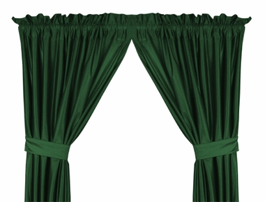 Dark Green Jersey Material Material Drapes (Pair)