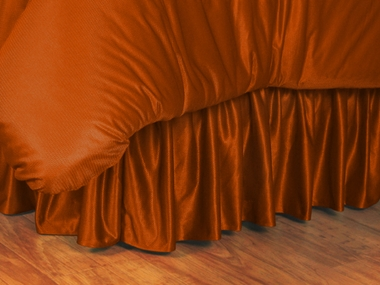 Dark Orange Jersey Material Bedskirt