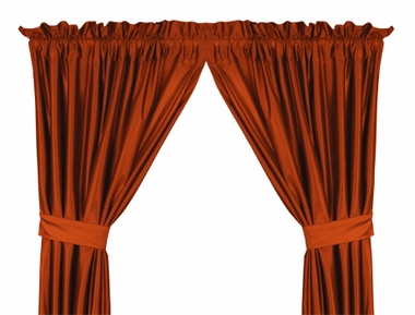 Dark Orange Jersey Material Drapes (Pair)
