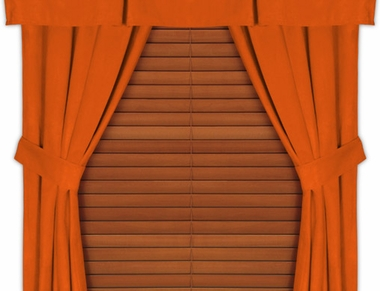Dark Orange Microsuede Drapes (Pair)