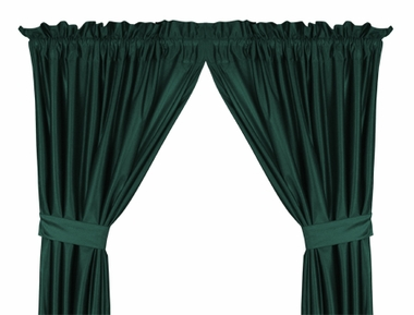Dark Teal Jersey Material Drapes (Pair)