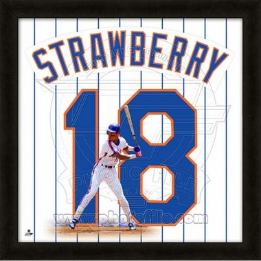 "Darryl Strawberry, Mets UNIFRAME 20"" x 20"""