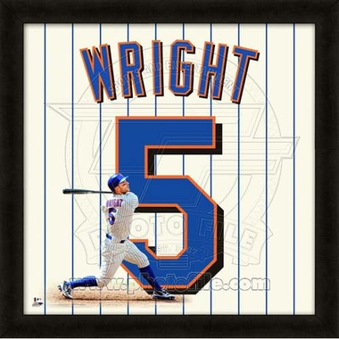 "David Wright, Mets UNIFRAME 20"" x 20"""