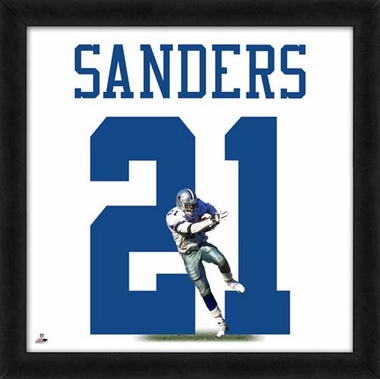 "Deion Sanders, Cowboys UNIFRAME 20"" x 20"""