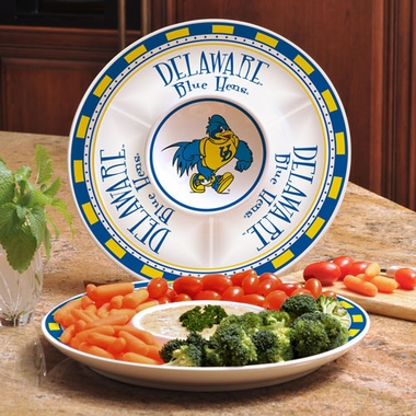 Delaware Ceramic Chip and Dip Plate